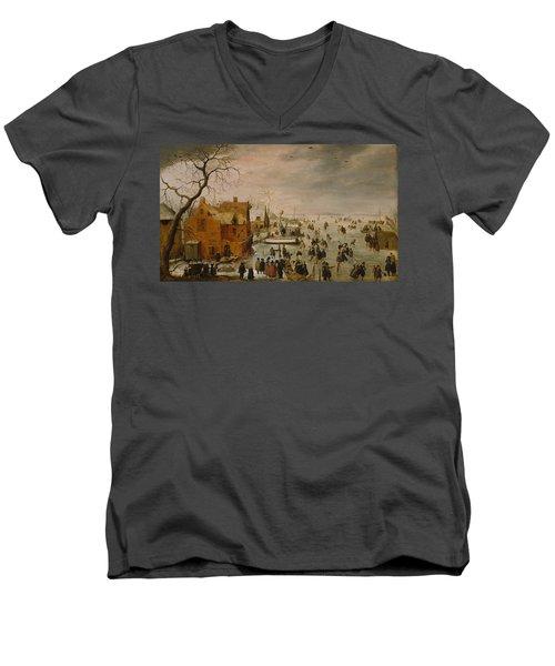 Ice Landscape Men's V-Neck T-Shirt