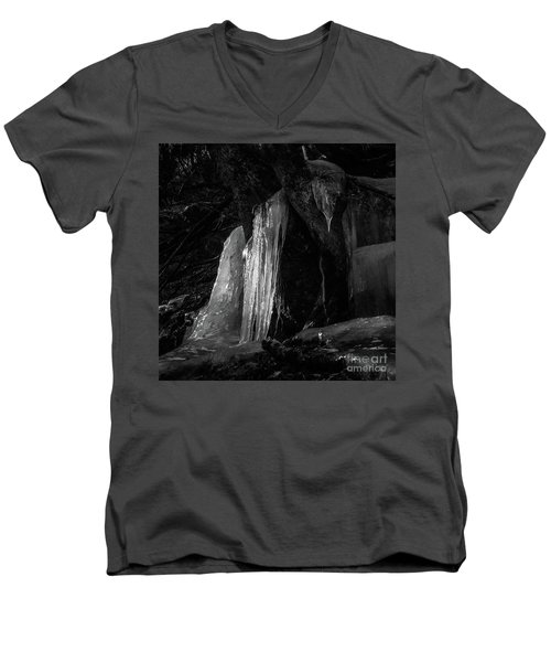 Icicle Of The Forest Men's V-Neck T-Shirt by Tatsuya Atarashi