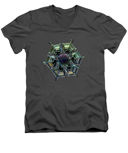 Ice Relief, Black Version Men's V-Neck T-Shirt