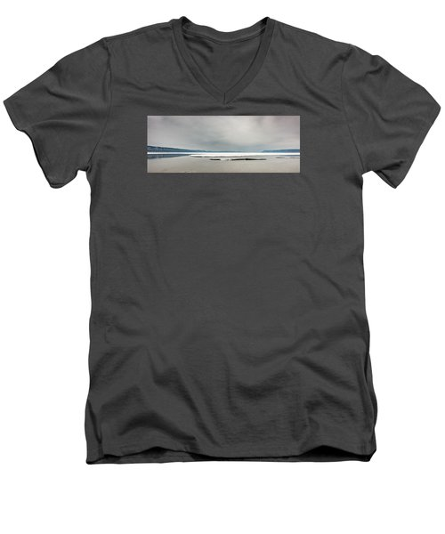 Men's V-Neck T-Shirt featuring the photograph Ice Sheet by Dan Traun
