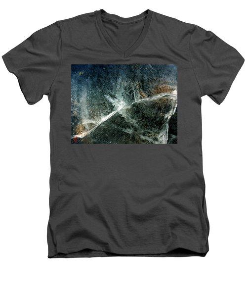 Ice Winter Denmark Men's V-Neck T-Shirt by Colette V Hera Guggenheim