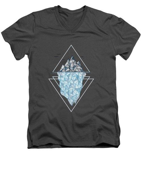 Iceberg Men's V-Neck T-Shirt by Barlena