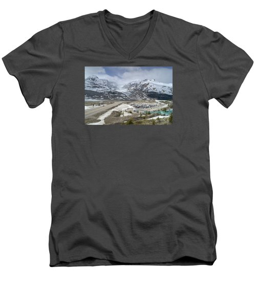 Icefields Parkway Highway 93 Men's V-Neck T-Shirt