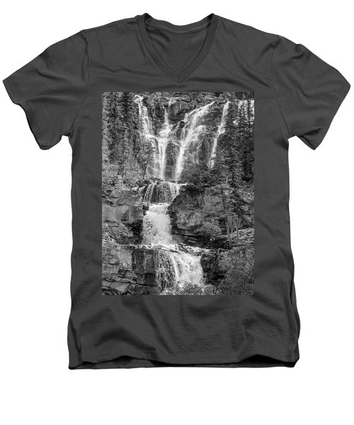 Icefields Waterfall Men's V-Neck T-Shirt