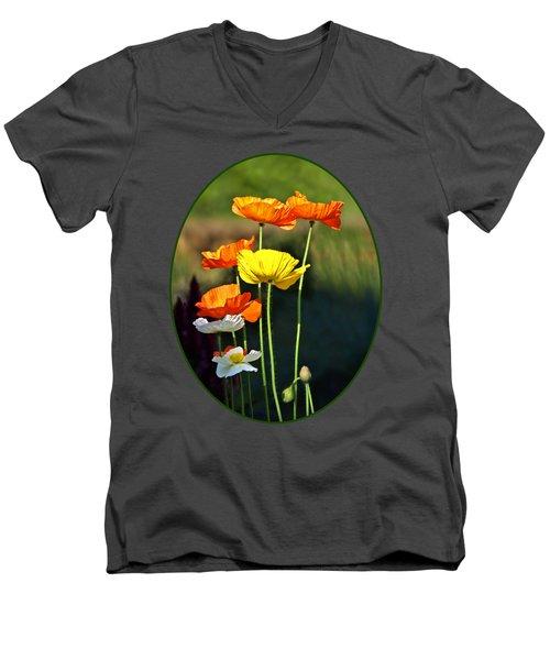 Iceland Poppies In The Sun Men's V-Neck T-Shirt