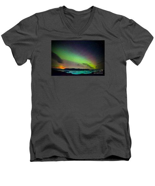 Icelandic Lights  Men's V-Neck T-Shirt
