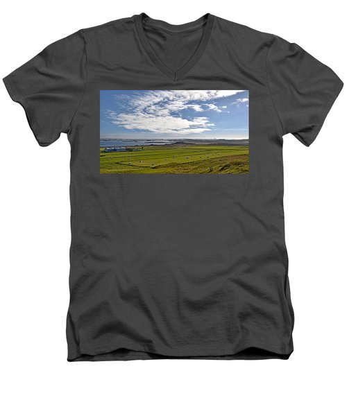 Men's V-Neck T-Shirt featuring the photograph Icelandic Panorama by Joe Bonita