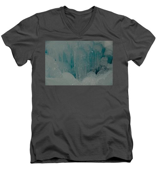 Icicle Blue Beauty Men's V-Neck T-Shirt