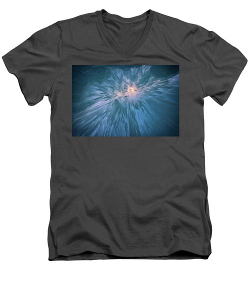 Men's V-Neck T-Shirt featuring the photograph Icicles by Rick Berk