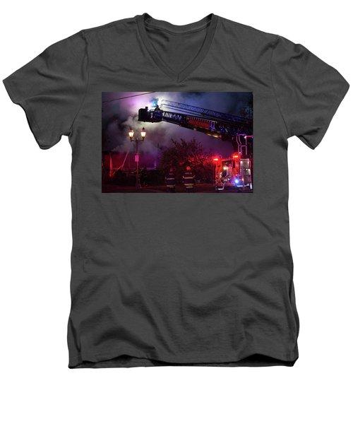 Ict - Burning Men's V-Neck T-Shirt