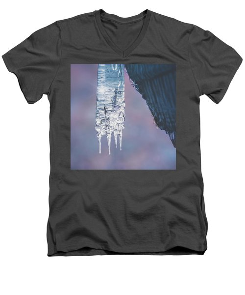Men's V-Neck T-Shirt featuring the photograph Icy Beauty by Ari Salmela