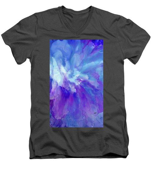 Icy Bloom Men's V-Neck T-Shirt