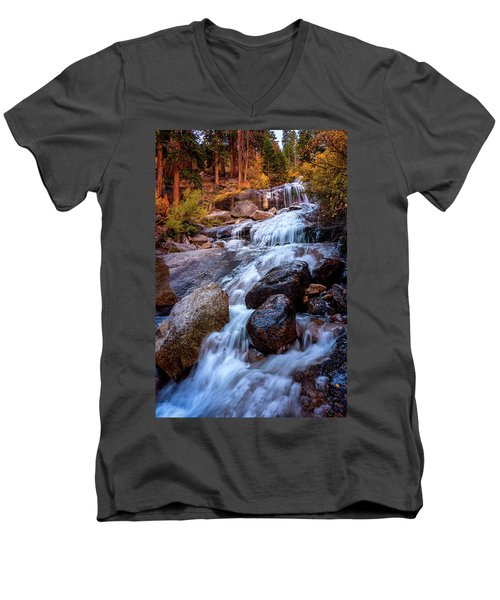 Icy Cascade Waterfalls Men's V-Neck T-Shirt