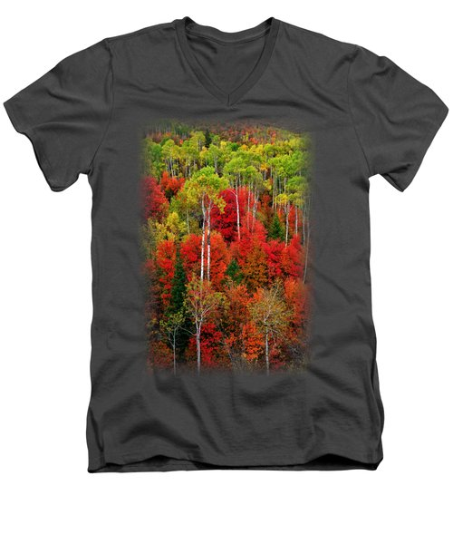 Idaho Autumn T-shirt Men's V-Neck T-Shirt by Greg Norrell