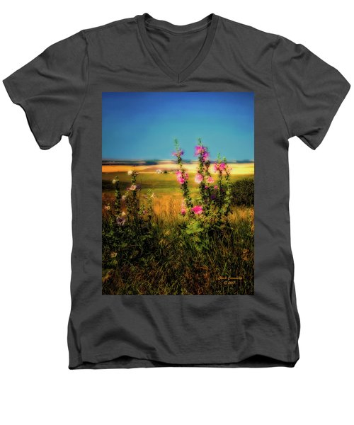 Idaho Farmhouse  ... Men's V-Neck T-Shirt
