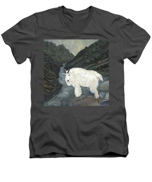 Idaho Mountain Goat Men's V-Neck T-Shirt