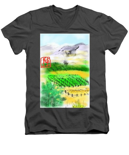 Idaho Vineyard Men's V-Neck T-Shirt
