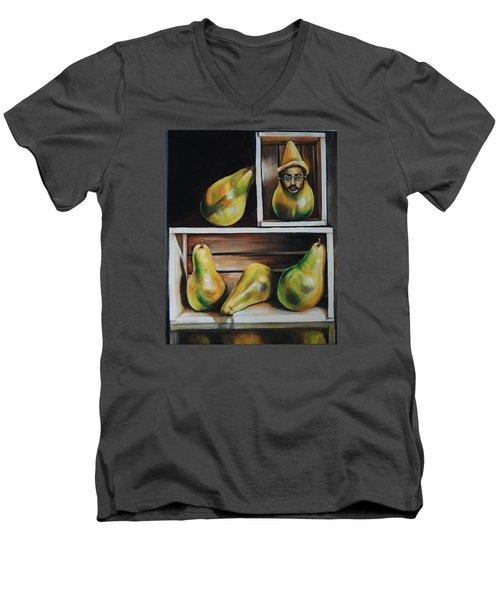 Toulouse-lautrec As A Pear Men's V-Neck T-Shirt by Jean Cormier