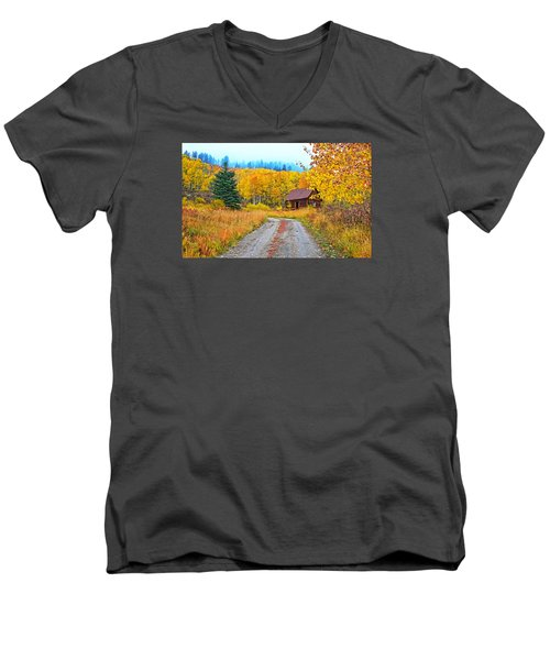 Idyllic Nostalgia Men's V-Neck T-Shirt by Bijan Pirnia