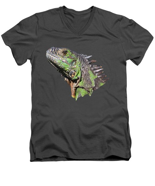 Men's V-Neck T-Shirt featuring the photograph Iguana by Shane Bechler