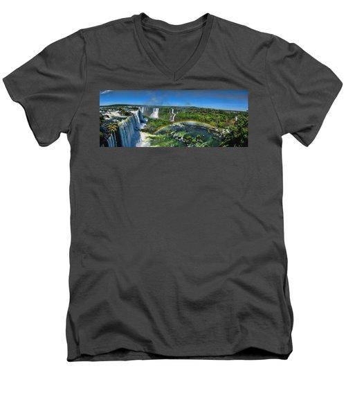 Iguazu Panorama Men's V-Neck T-Shirt
