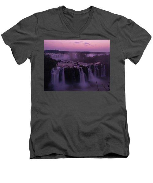 Iguazu Sunset In Violet Men's V-Neck T-Shirt