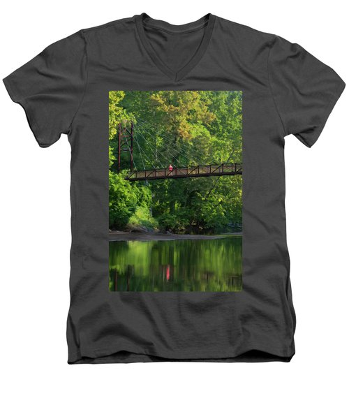 Ilchester-patterson Swinging Bridge Men's V-Neck T-Shirt