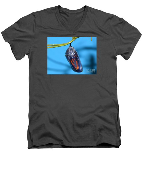 Men's V-Neck T-Shirt featuring the photograph I'll See You Soon by Lew Davis