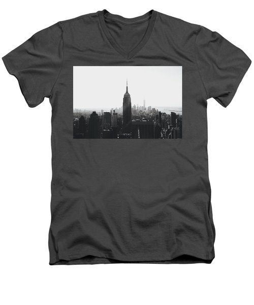 I'll Take Manhattan  Men's V-Neck T-Shirt by J Montrice