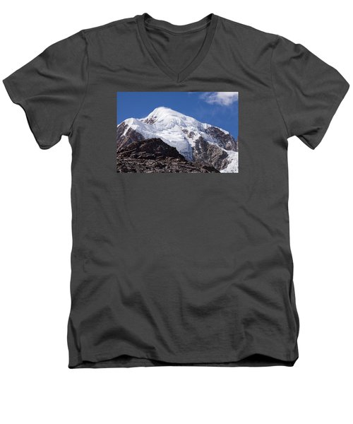 Illampu Mountain Men's V-Neck T-Shirt