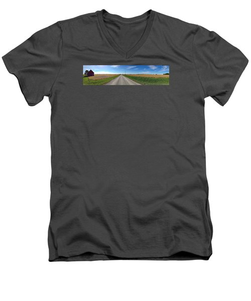 Illinois Landscape  Men's V-Neck T-Shirt by Tim Good