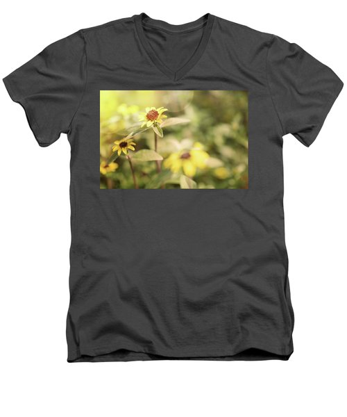 Illuminated Zinnia Men's V-Neck T-Shirt