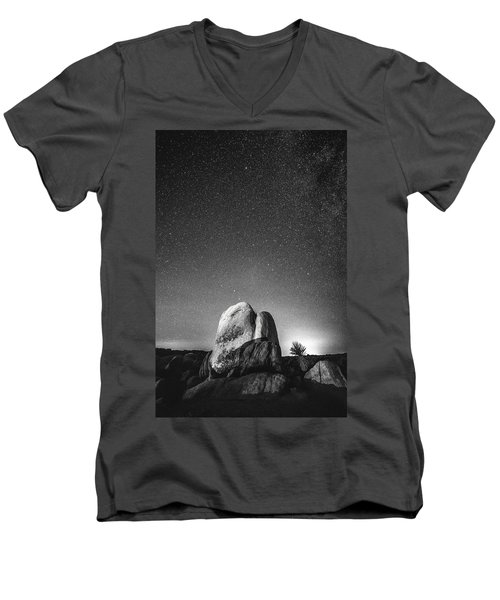 Men's V-Neck T-Shirt featuring the photograph Illuminati V by Ryan Weddle