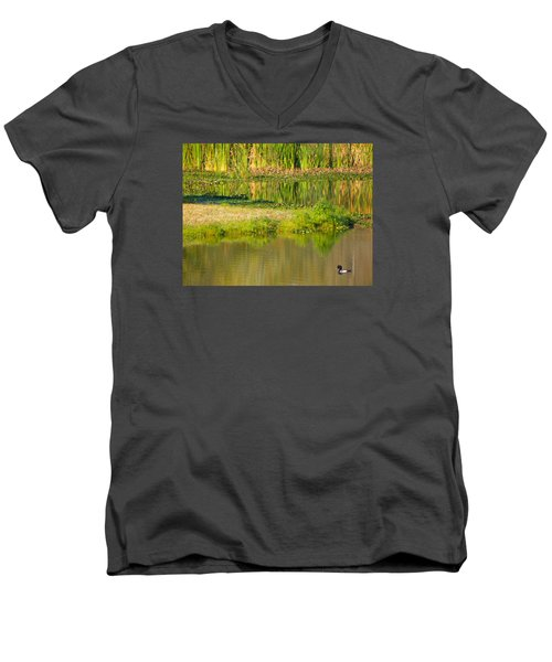 Men's V-Neck T-Shirt featuring the photograph Illusion Confusion by Rosalie Scanlon