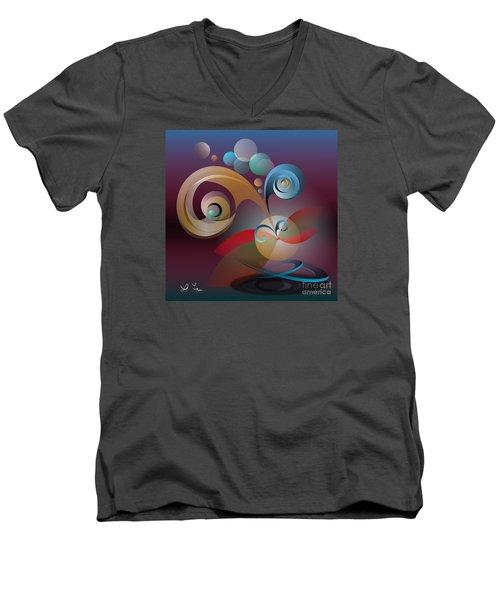 Illusion Of Joy Men's V-Neck T-Shirt by Leo Symon
