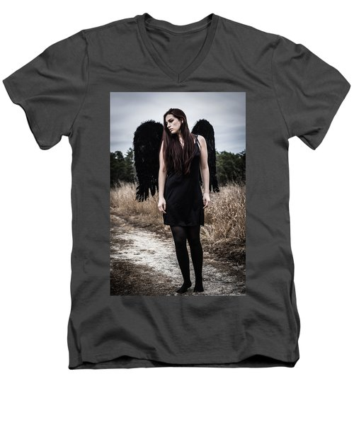 Men's V-Neck T-Shirt featuring the photograph I'm No Angel by Brian Hughes