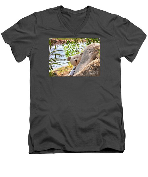 I'm Not Lost...because I Found You Men's V-Neck T-Shirt