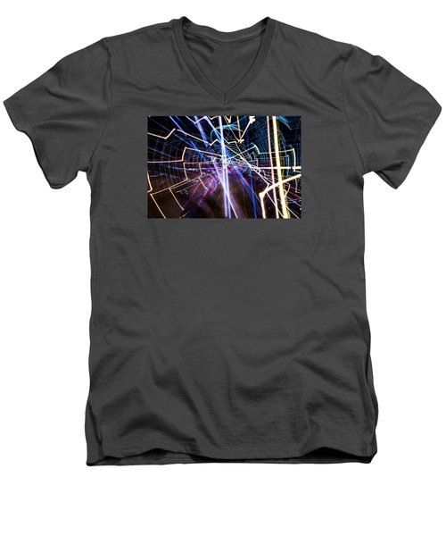 Men's V-Neck T-Shirt featuring the photograph Image Burn by Micah Goff