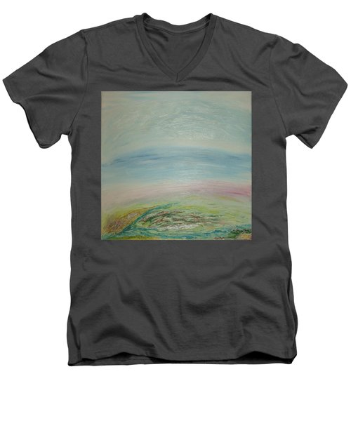 Imagination 7. Landscape. Three Dimensions. View From The Sky. Men's V-Neck T-Shirt