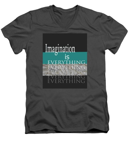 Men's V-Neck T-Shirt featuring the digital art Imagination by Ann Powell