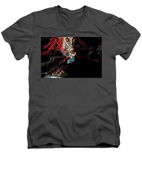 Men's V-Neck T-Shirt featuring the photograph Imagine by Bruno Spagnolo