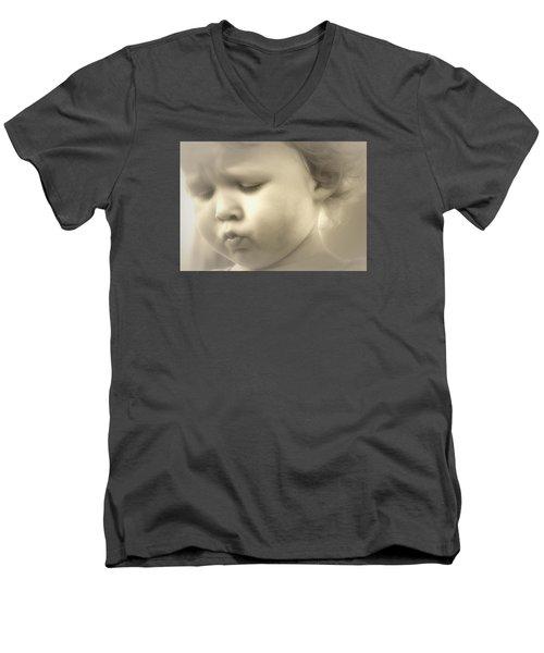 Immanuel Men's V-Neck T-Shirt by The Art Of Marilyn Ridoutt-Greene