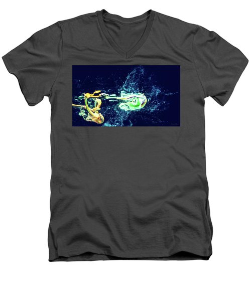 Impact - Pouring Photography Abstract Men's V-Neck T-Shirt
