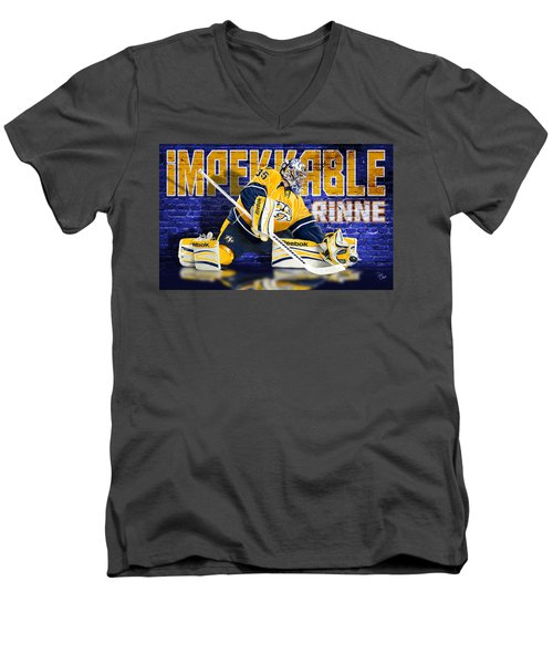 Men's V-Neck T-Shirt featuring the photograph Impekkable by Don Olea