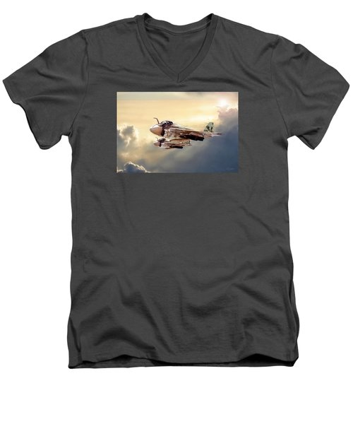 Impending Intrusion Men's V-Neck T-Shirt by Peter Chilelli