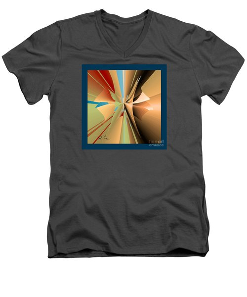 Men's V-Neck T-Shirt featuring the digital art Imperfection And Harmony by Leo Symon