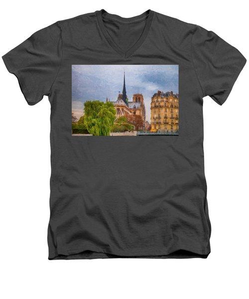 Impression, Paris Men's V-Neck T-Shirt