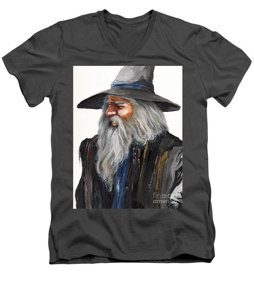 Impressionist Wizard Men's V-Neck T-Shirt by J W Baker
