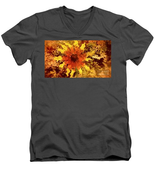 Impressionistic Petals Men's V-Neck T-Shirt