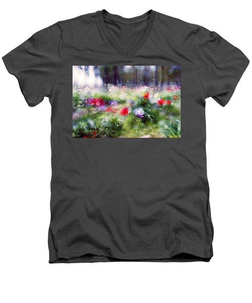 Impressionistic Photography At Meggido 2 Men's V-Neck T-Shirt